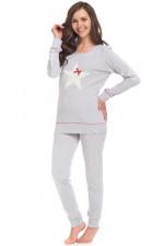 Dn-nightwear PM.9313 piżama grey melange