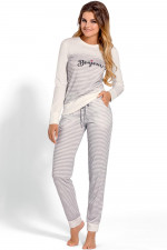 Babella 3101 piżama ecru-szary
