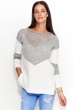 Numinou NU_S29 sweter ecru-szary