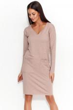 Numinou NU51 sukienka cappuccino melanż