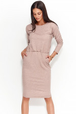 Numinou NU57 sukienka cappuccino melanż