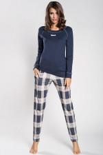 Italian Fashion Amira dł.r. dł.sp. piżama granat
