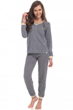 Dn-nightwear PM.9340 piżama grey-yellow