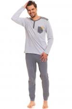 Dn-nightwear PMB.9381 piżama grey melange