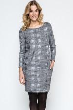 Ennywear 240112 sukienka szary melange