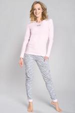 Italian Fashion Milana dł.r. dł.sp piżama morela-melanż