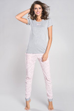 Italian Fashion Milana kr.r. dł.sp. piżama melanż/morela