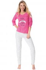 Rossli SAL-PY 1081 piżama różowy