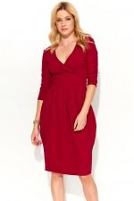 Makadamia M363 sukienka bordowy
