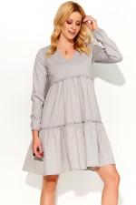 Makadamia M367 sukienka szary melanż
