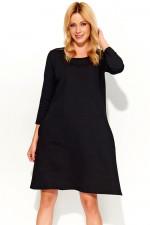 Makadamia M375 sukienka czarny