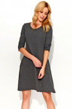 Makadamia M375 sukienka grafitowy melanż