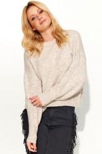 Makadamia S58 sweter beżowy melanż
