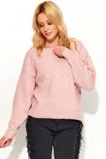 Makadamia S58 sweter różowy melanż