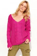 Makadamia S59 sweter fuksja