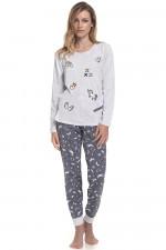 Dn-nightwear PM.9346 piżama grey