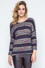 Ennywear 240123 Sweter grafit/multikolor