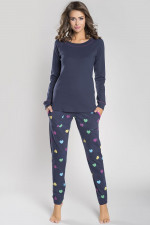 Italian Fashion Ami dł.r. dł.sp. piżama granat