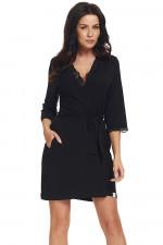 Dn-nightwear SWW.9324 szlafrok black