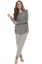 Dn-nightwear PD.9347 piżama dark grey