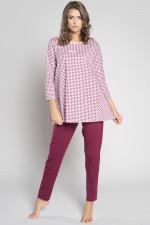 Italian Fashion Venta r.3/4 dł.sp. piżama bordo