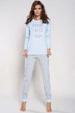 Italian Fashion Edyta dł.r. dł.sp. piżama niebieski