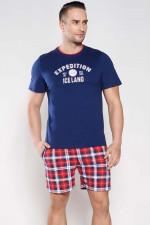 Italian Fashion Ramzes kr.r. kr.sp. piżama granat