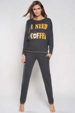 Italian Fashion Salma dł.r. dł.sp. piżama ciemny melanż