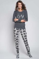 Italian Fashion Arctic dł.r. dł.sp. piżama szary melanż
