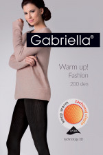 Gabriella Warm up! Fashion 200 Den code 412 Wzorzyste nero