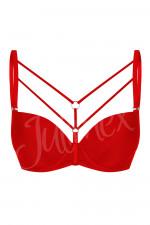 Julimex Decollete LINK ramiączka ozdobne czerwono-srebrny