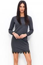 Numinou NU64 sukienka grafitowy melanż