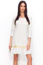Numinou NU71 sukienka beżowy melanż