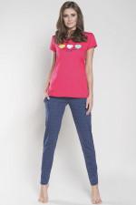 Italian Fashion Cyntia kr.r. dł.sp. piżama karmazyn