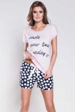 Italian Fashion Marika kr.r. kr.sp. piżama róż