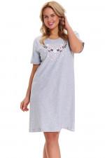 Dn-nightwear TB.9437 koszula grey melange