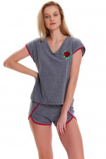 Dn-nightwear PM.9446 piżama dark grey