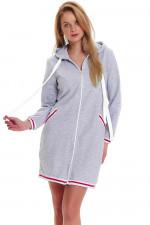 Dn-nightwear SMZ.9455 szlafrok grey melange