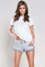 Italian Fashion Wiktoria kr.sp. szorty biały/melanż