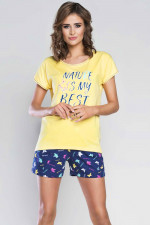 Italian Fashion Mariposa kr.r. kr.sp. piżama żółty