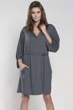 Italian Fashion Mirella r.3/4 szlafrok ciemny melanż