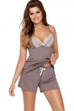Babella Malwina piżama mocca