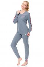 Dn-nightwear PM.9501 piżama dark grey
