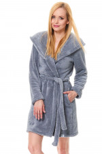 Dn-nightwear SSW.9571 szlafrok grey
