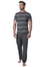 Rossli SAM-PY140 piżama szary melange