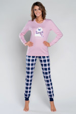 Italian Fashion Aula dł.r. dł.sp. piżama róż