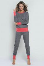 Italian Fashion Oslo dł.r. dł.sp. piżama szary