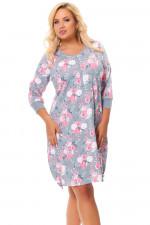 Dn-nightwear TB.9553 Koszula grey