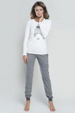 Italian Fashion Tokio dł.r. dł.sp. piżama ecru-szary