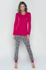 Italian Fashion Tetyda dł.r. dł.sp. piżama karmazyn